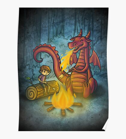 Campfire marshmallows Poster