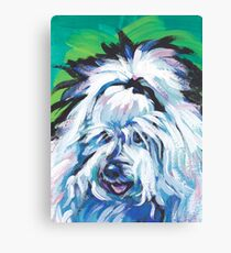 Coton de Tulear Bright colorful pop dog art Canvas Print