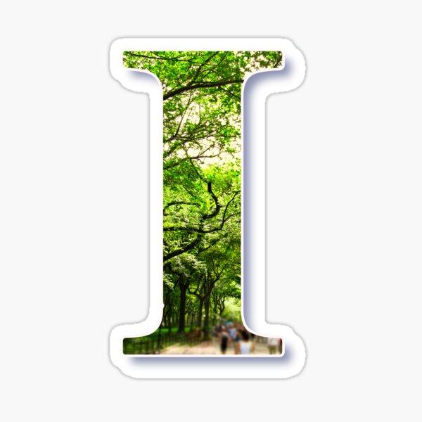 "Central Park - Letter ""I"" Sticker"