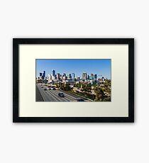 Seattle Morning Skyline Framed Print