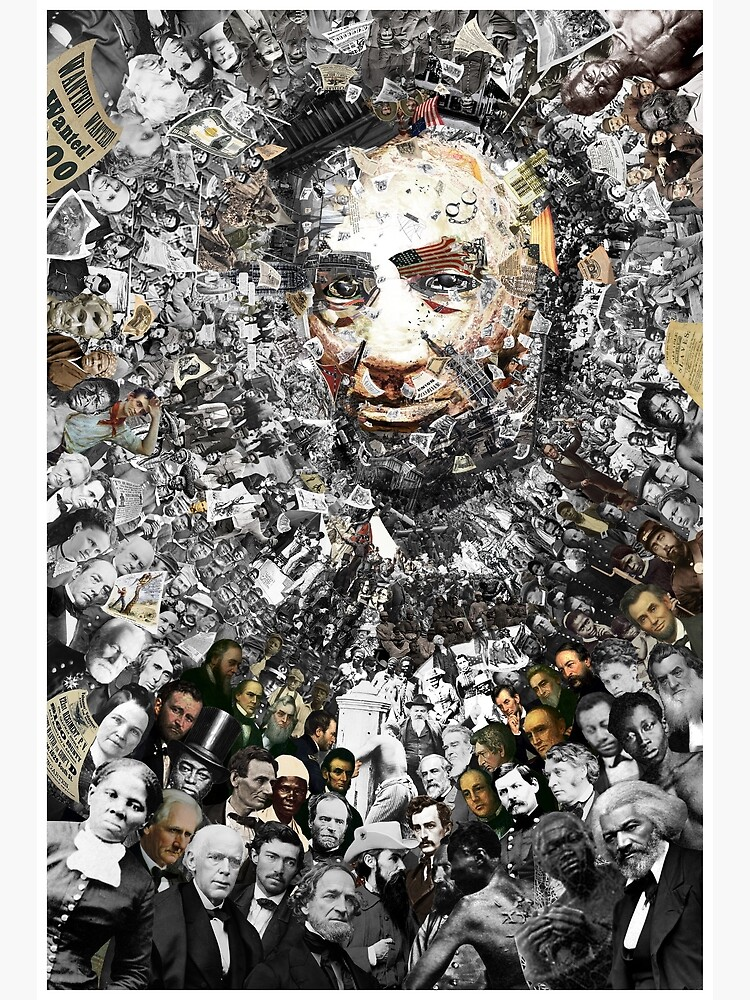 "Title: ""Rendering Myself Worthy"" Abe Lincoln, Slavery, Civil War Meta Collage by worn"