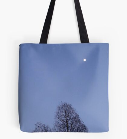 Cypress Trees and the Three Quarter Moon Tote Bag