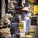 Bali Taman Ayun Temple Caretaker by Bobby McLeod