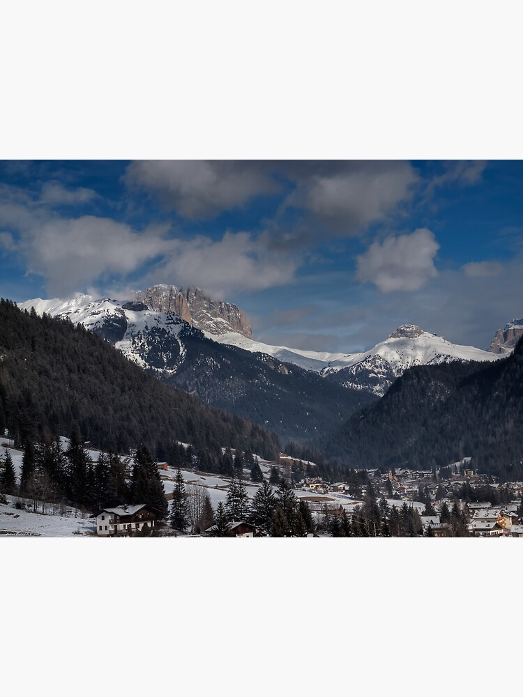 Panoramic view of Sassolungo from  Pozza di Fassa by rapis60