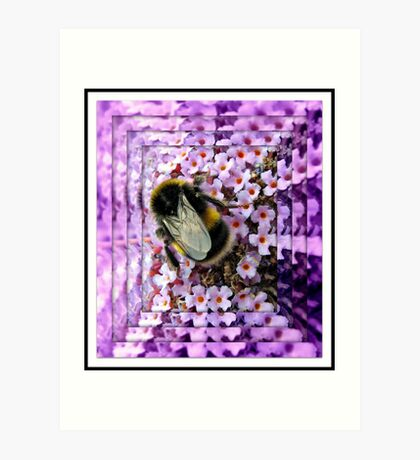 Mining Operations - Bee at Work Kunstdruck