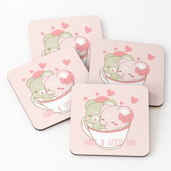 Sugar Cubs, Have a Good Day Coasters (Set of 4)