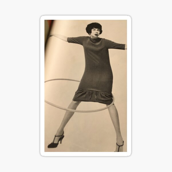 Rosalind Russell with a hula hoop Sticker