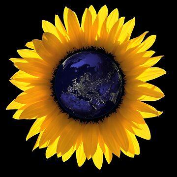 Sunflower Eclipse Earth Sun by worn