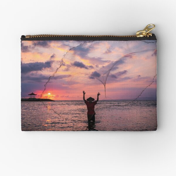 Bali Sunrise Fisherman Zipper Pouch