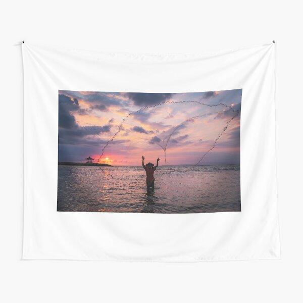 Bali Sunrise Fisherman Tapestry
