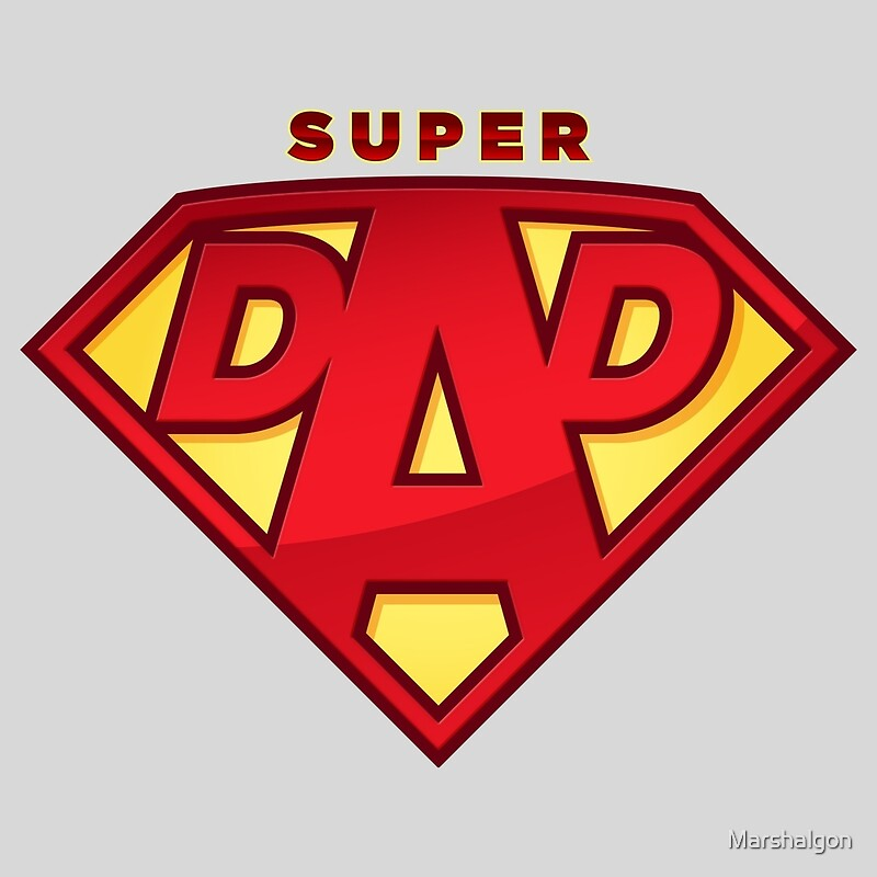"""""""Happy Father's Day celebrations concept """"SUPERDAD"""" logo ..."""
