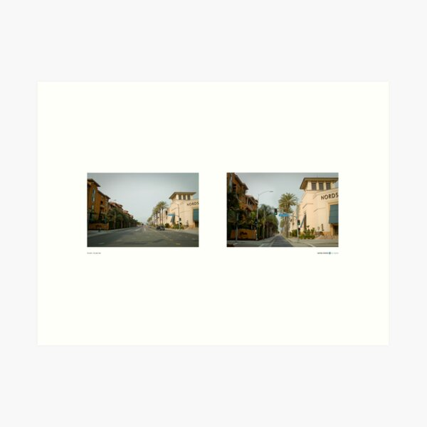 3rd Street + The Grove Drive, Los Angeles, California, USA...narrowed. Art Print