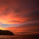Sunset over the Phi Phi Islands by Kerry Dunstone