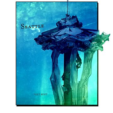 Seattle - Get Bent - Distorted Space Needle by RyanJGill