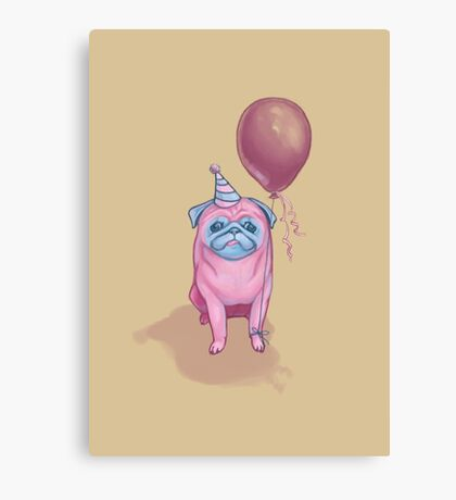 Party pug Canvas Print