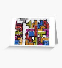Life as Tetris Greeting Card