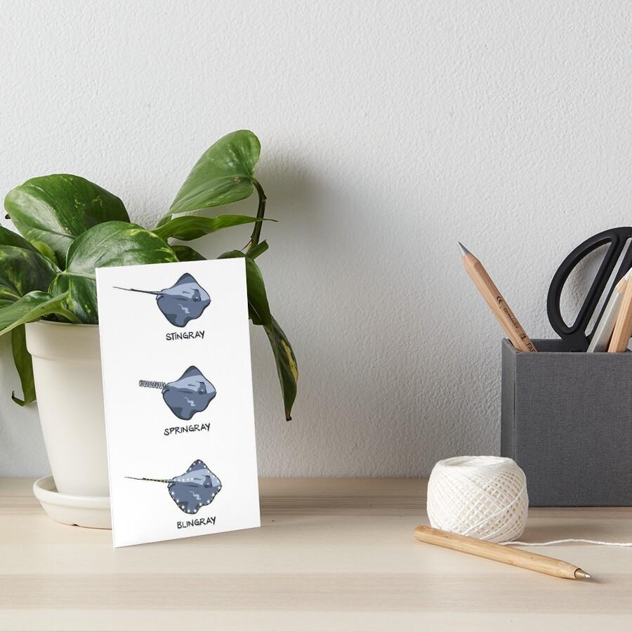 Stingrays of the World Art Board Print