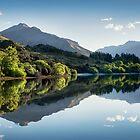 Glendhu Bay Reflections by Mieke Boynton