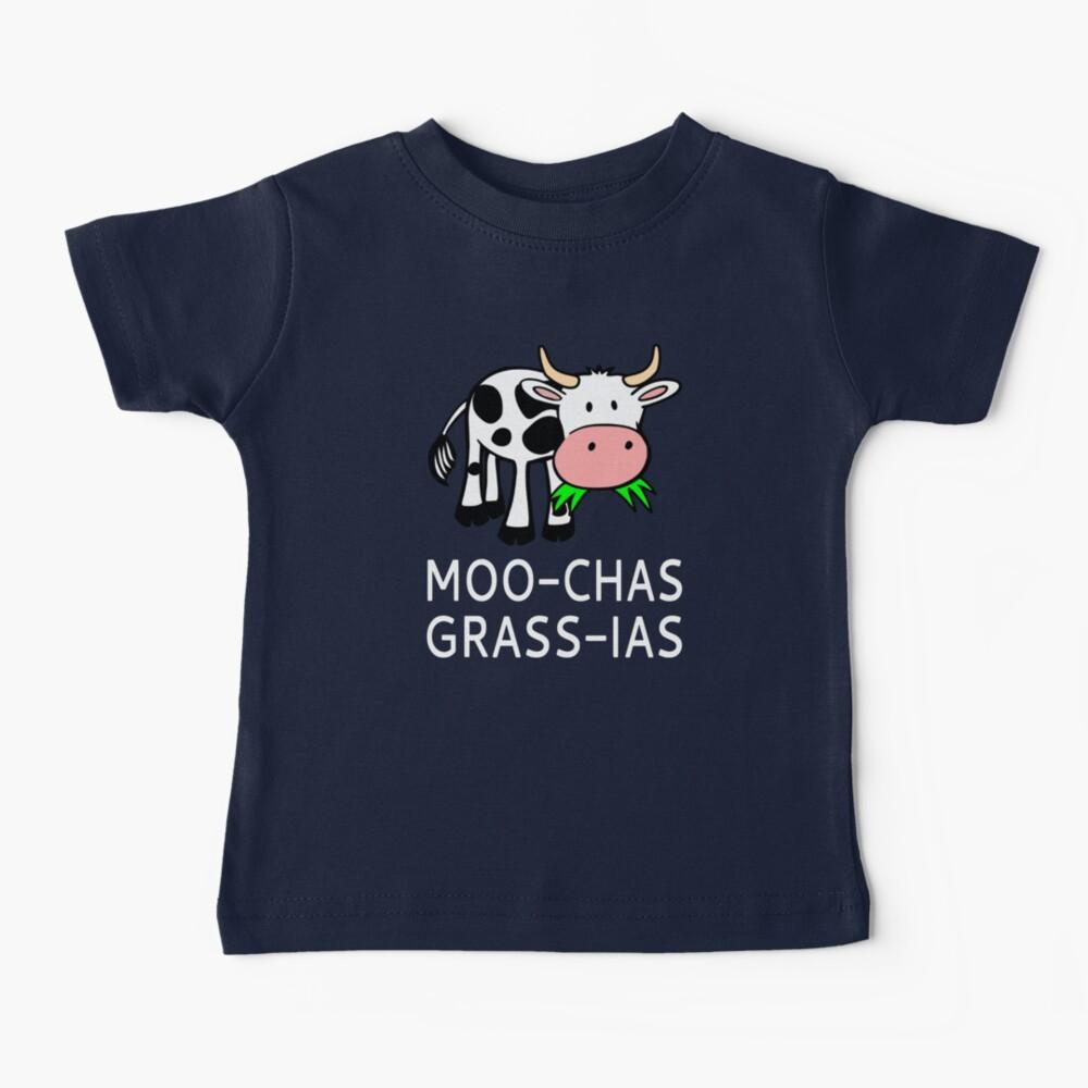 Moo-chas Grass-ias (Muchas Gracias) Baby T-Shirt