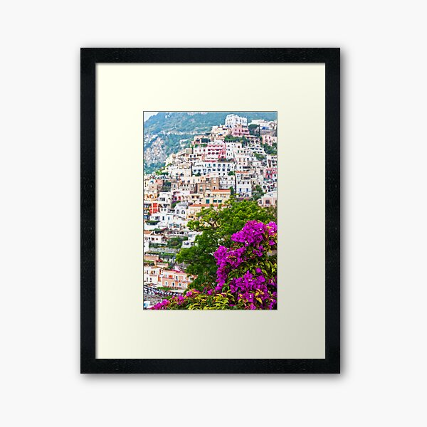 Positano Purple Framed Art Print