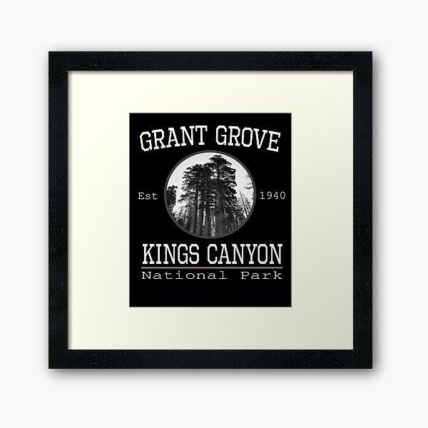 Kings Canyon National Park Grant Grove Framed Art Print