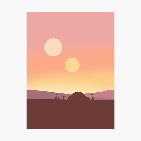 Twin Suns Photographic Print