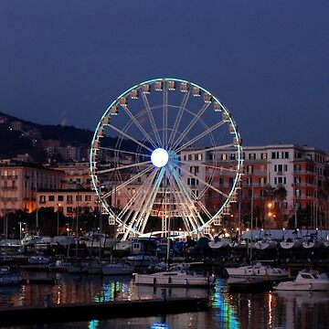 Italy : Ferris wheel for the Luci d'Artista 2018, Christmas lights show in Salerno. by DANGER-ZONE888