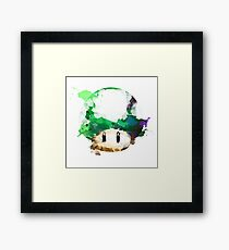Watercolor 1-Up Mushroom Framed Print