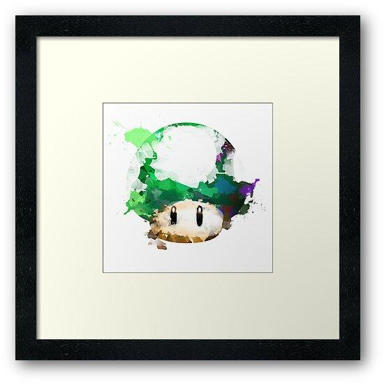 Watercolor 1-Up Mushroom by insomniacart
