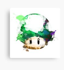 Watercolor 1-Up Mushroom Canvas Print