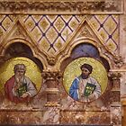 Two Scribes On The Chancel Wall by lezvee