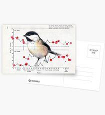 Chickadee and Berries Postcards