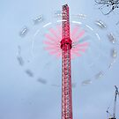 Extreme sky ride near London Eye by santoshputhran