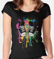 My High Top Sneakers Women's Fitted Scoop T-Shirt