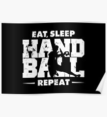 EAT, SLEEP, HANDBALL, REPEAT VINTAGE Poster