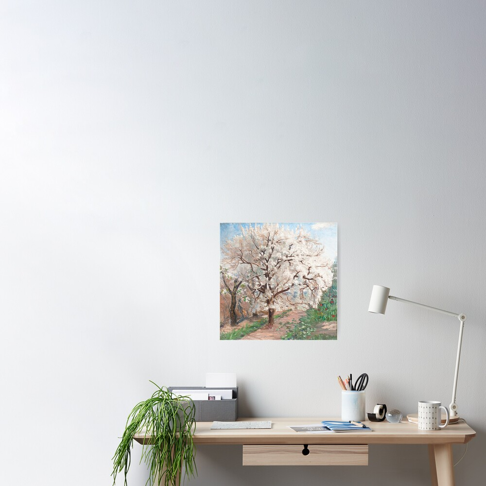 Trees in blossom Poster