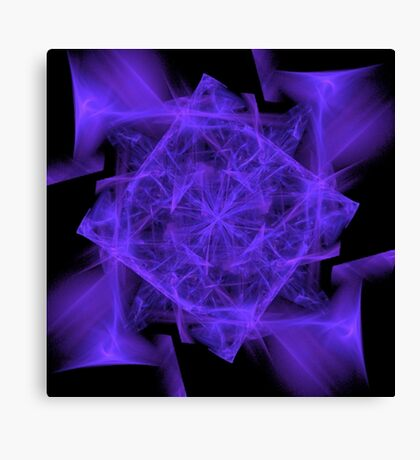 Facets in Purple Canvas Print