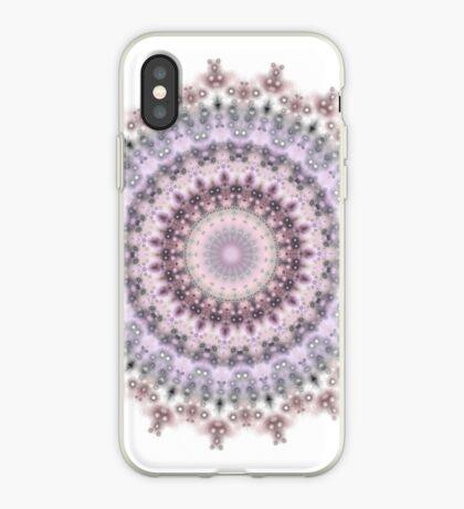 Purple Vintage mandala  iPhone Case