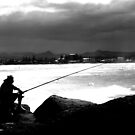 Lone Fisherman. by mikeytheblack