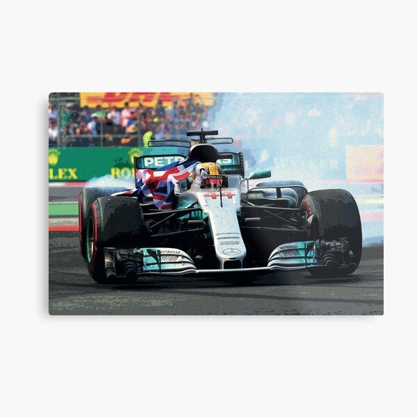Lewis Hamilton celebrating his 2017 world championship Metal Print
