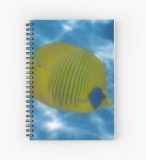The Bluecheeked Butterflyfish Photoart Spiral Notebook