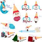 Gnome pencil stickers by liajung