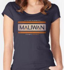 IF IT'S NOT ELEMENTAL, IT'S NOT A MALIWAN! Women's Fitted Scoop T-Shirt