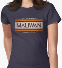IF IT'S NOT ELEMENTAL, IT'S NOT A MALIWAN! Women's Fitted T-Shirt