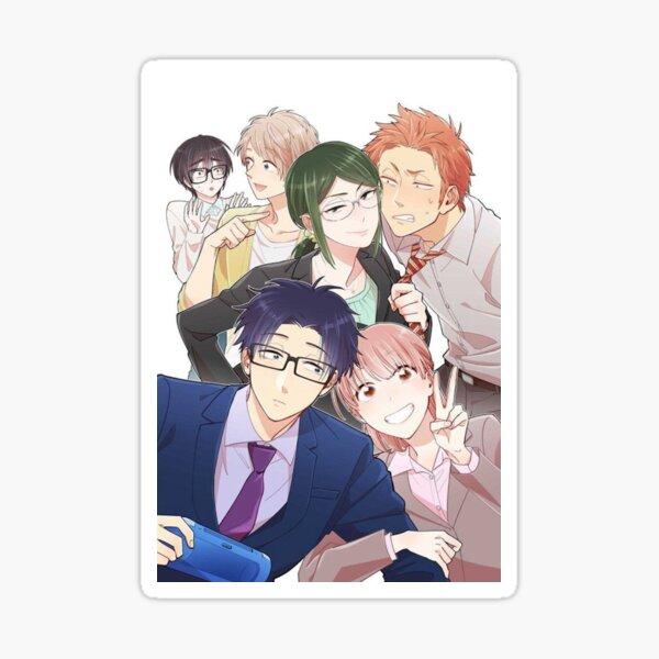 El amor es duro para un otaku Pegatina