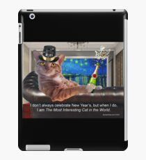 The Most Interesting Cat New Year's iPad Case/Skin