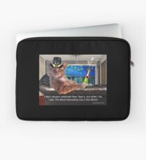 The Most Interesting Cat New Year's Laptop Sleeve