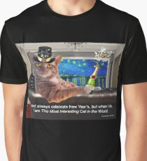 The Most Interesting Cat New Year's Graphic T-Shirt