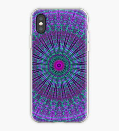 Purple Inspire mandala  iPhone Case