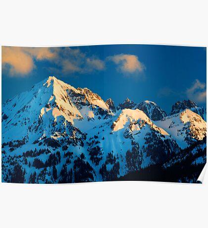 Winter Peaks Poster